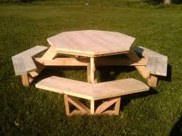 only 2x4s and 2x6s picnic table very octagonny furniture