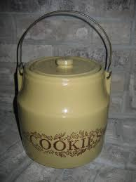 vintage monmouth il stoneware pottery cookie jar item 417 for