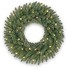 national tree 48 inch norwood fir wreath with 200