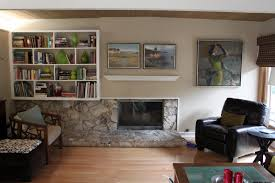 should a mid century modern fireplace have a mantle mid century