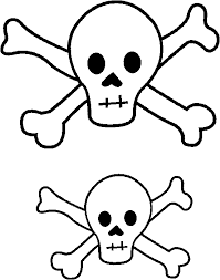 free printable skull and cross bones template and eye patch