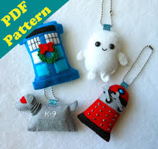 pdf pattern doctor who keychain ornament plush by michellecoffee
