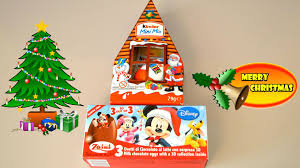 christmas kinder surprise unboxing mickey mouse clubhouse toys