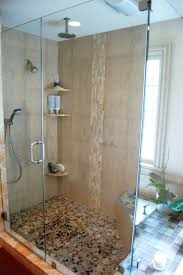 mosaic tile shower wall small modern shower area with great