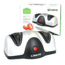 linkyo 2 stage electric kitchen knife sharpener belt driven