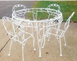 Woodard Wrought Iron Patio Furniture Vintage Wrought Iron Patio Furniture Etsy