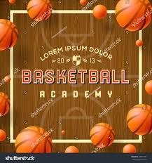 thanksgiving basketball camp basketball academy flyer poster use basketball stock vector