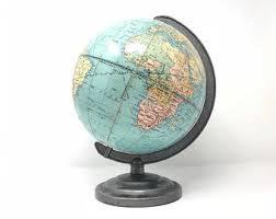 Small Desk Globe Small Vintage Globe Etsy