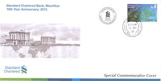 mauritian philatelic blog 10th anniversary of standard chartered