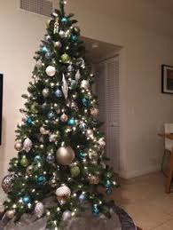 our blue green silver and gold tree casa
