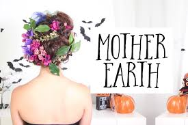 Mother Nature Makeup For Halloween by Mother Earth Halloween Hairstyle Cerinebabyyish Youtube