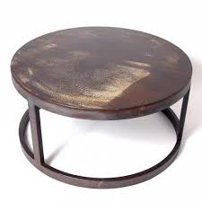 round wood and metal end table coffee table beautiful round metal coffee table modern round wood