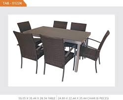 Patio Table 6 Chairs Outdoor Wicker Square Dining Set With 6 Chairs Tab01224