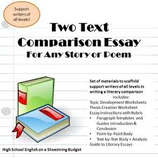 two text comparison essay writing for any two stories or poems pdf