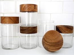 decorative canisters kitchen decorative kitchen canisters of wood 4 designs and jars wooden