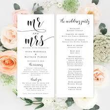 Design Wedding Programs Best 25 Diy Wedding Program Template Ideas On Pinterest Wedding
