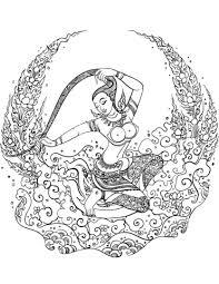 mother earth phra mae thorani coloring free printable