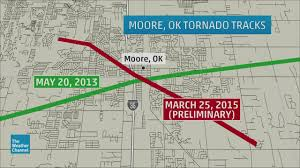 Oklahoma Zip Code Map Moore Oklahoma City Tornado History The Weather Channel