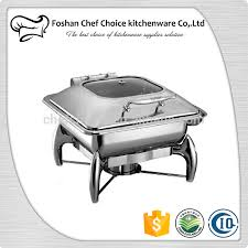 factory price c1032 luxury chafing dish hydraulic glass cover food