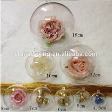 clear plastic acrylic fillable ornament 60mm hanging