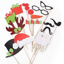 diy mask photo booth props mustache on a stick wedding christmas