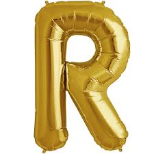 balloon letters 34 gold letter r foil balloon