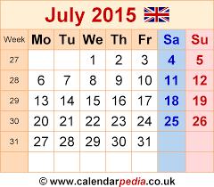 calendar july 2015 uk bank holidays excel pdf word templates