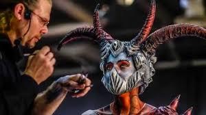 makeup halloween body painting face painting foire de paris