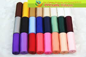 2 inch satin ribbon ppcrafts ribbon 2 inch 50mm 5cm solid color satin
