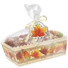 cello wrap autumn paper loaf pan w clear cello wrap 2 count thanksgiving
