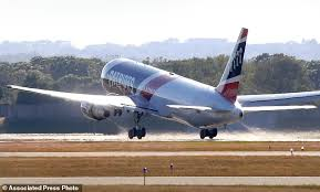 new england patriots show off customized boeing 767 daily mail