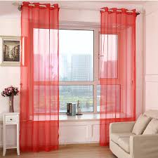 Orange And White Curtains Shop White Drapes Sheer Yarn Tulle Orange Curtains Room
