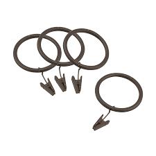 shop allen roth 10 pack 1 75 in sienna bronze steel curtain ring