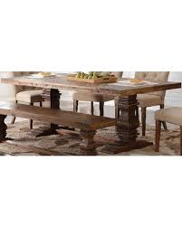 bargains on normandy vintage distressed dining table by new