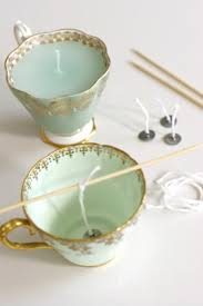 tea cup candles how to make teacup candles 20 tutorials guide patterns