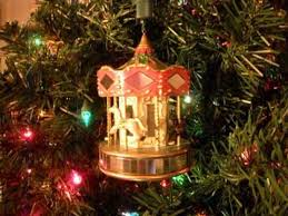noma ornamotion rotating ornament merry go carousel 1989