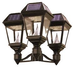 gama sonic solar lights sonic gs 97nf3 imperial ii solar outdoor light fixture with triple