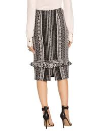 tweed skirt women s fringe vertical ombre stripe tweed skirt st knits