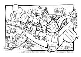 Coloriage  le jeu gonflable senvole