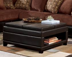 best square leather ottoman coffee table 94 for your designing