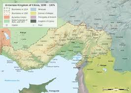 Turkestan Map Map Of The Armenian Kingdom Of Cilicia During The 13th Century