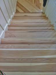 hickory stair treads before they were stained walnut