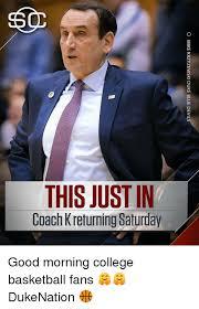 Coach K Memes - this just in coach k returning saturday o mike krzyzewski duke blue
