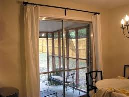 Curtains To Cover Sliding Glass Door Curtain Sliding Glass Door Peytonmeyernet Curtain Rods For