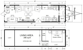Floor Plans With Measurements Tiny House Floor Plans 32 U0027 Tiny Home On Wheels Design