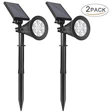solar wall mounted lights 2 pack solar landscape lights outdoor motion sensor ithird 2 in 1 6 led