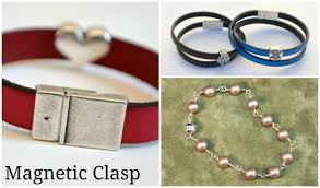 silver magnetic bracelet clasps images 8 types of jewelry clasps and how to use them in projects jpg