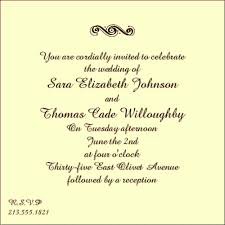sle wedding invitation wording program format