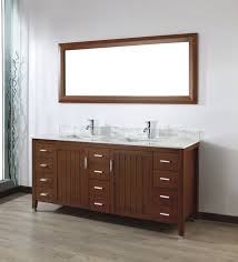 Wood Framed Bathroom Mirrors by Art Bathe Jackie 72 Cherry Double Bathroom Vanity Wood Framed Mirror