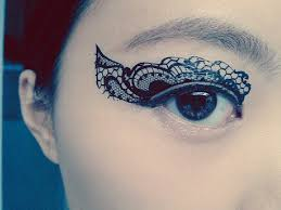 lace temporary makeup eye applique eyeshadow